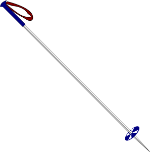 Ski pole graphic