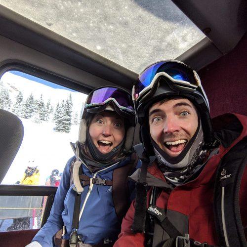 Cat Skiing - Jordan and Lauren