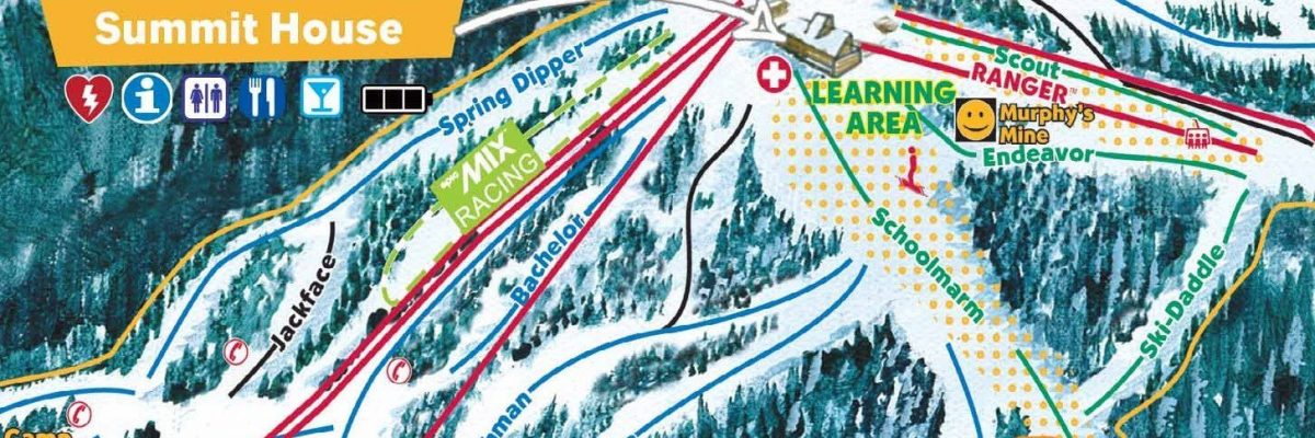 Ski map with learning area